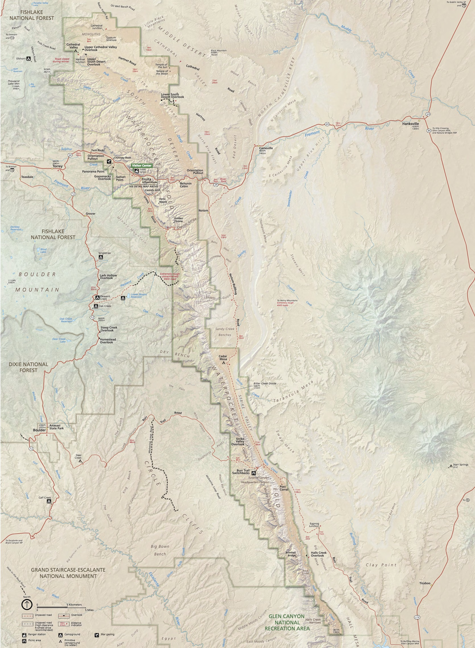 Official Map of Capitol Reef National Park